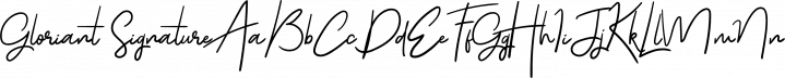 Gloriant Signature font family by Letterhend Studio