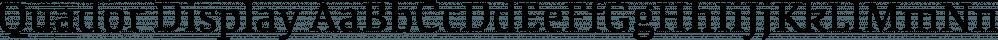 Quador Display font family by Fontador