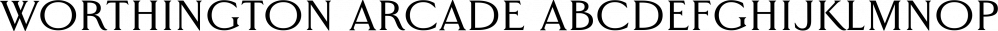 Worthington Arcade font family by Device