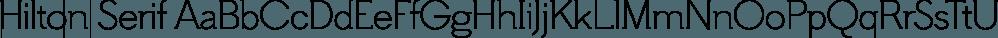 Hilton Serif font family by Juraj Chrastina