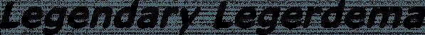 Legendary Legerdemain font family by Comicraft