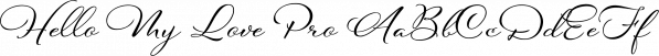 Hello My Love Pro font family by Debi Sementelli Type Foundry