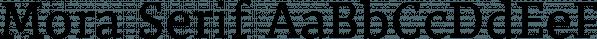 Mora Serif font family by RadLuka