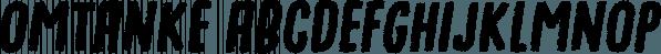 Omtanke font family by Pizzadude.dk