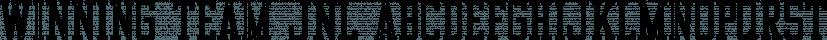 Winning Team JNL font family by Jeff Levine Fonts