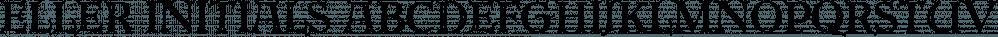 Eller Initials font family by SoftMaker