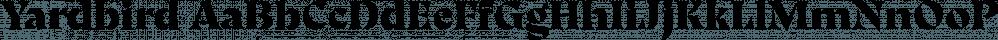 Yardbird font family by Herzberg Design