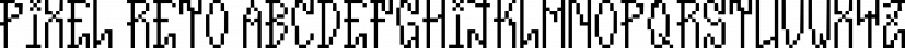 Pixel Reto font family by Typeóca