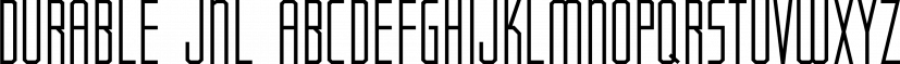 Durable JNL font family by Jeff Levine Fonts