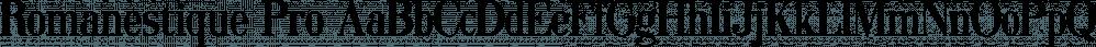 Romanestique Pro font family by Kentype