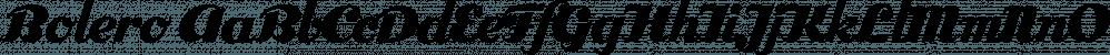 Bolero font family by Canada Type