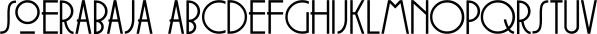 Soerabaja font family by Hanoded