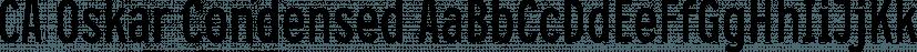 CA Oskar Condensed font family by Cape Arcona Type Foundry