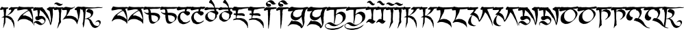 Kanjur font family by Grummedia