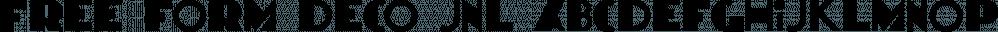 Free Form Deco JNL font family by Jeff Levine Fonts