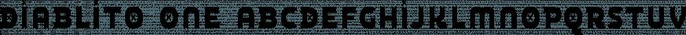 Diablito One font family by Rodrigo Typo