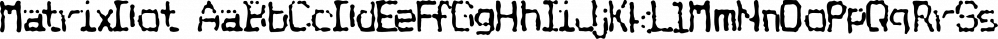 MatrixDot font family by Fonthead Design