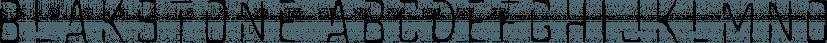 Blakstone font family by Albatross