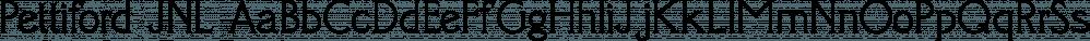 Pettiford JNL font family by Jeff Levine Fonts