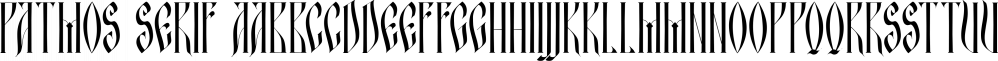 Patmos Serif font family by DimitriAna