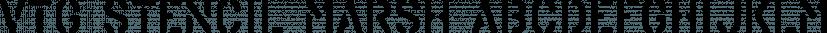 Vtg Stencil Marsh font family by Astype