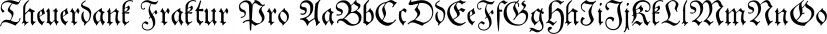 Theuerdank Fraktur Pro font family by SoftMaker