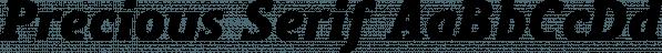 Precious Serif font family by G-Type