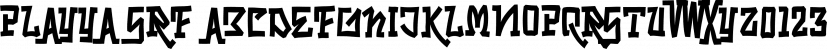 Playya SRF font family by Stella Roberts Fonts