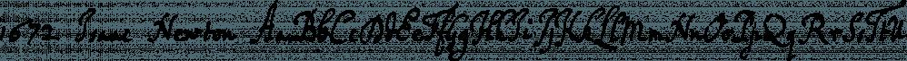 1672 Isaac Newton font family by GLC Foundry