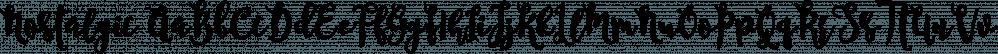 Nostalgic font family by Dhan Studio