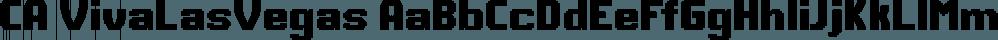 CA VivaLasVegas font family by Cape Arcona Type Foundry