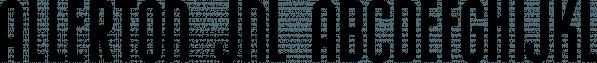 Allerton JNL font family by Jeff Levine Fonts