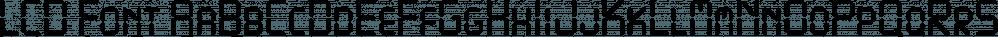 LCD Font font family by FontSite Inc.