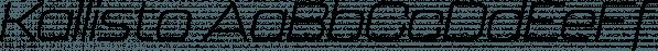 Kallisto font family by Device
