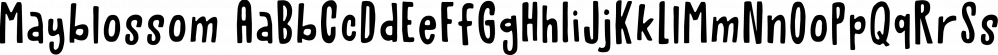 Mayblossom font family by Hanoded