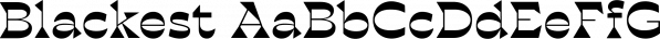 Blackest font family by Zetafonts