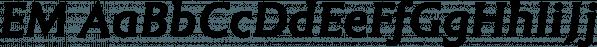 EM font family by Wilton Foundry