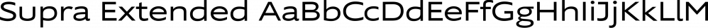 Supra Extended font family by Wiescher-Design
