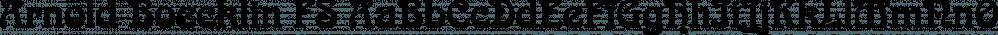 Arnold Boecklin FS font family by FontSite Inc.