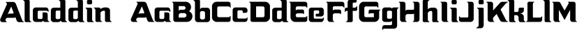 Aladdin  font family by CozyFonts Foundry