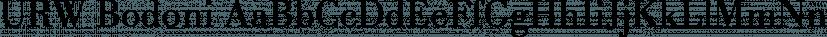 URW Bodoni font family by URW Type Foundry