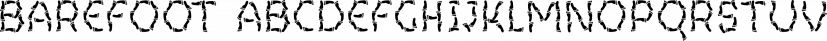 Barefoot font family by Ingrimayne Type