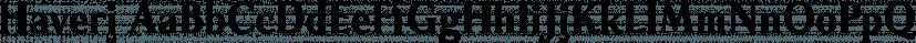 Haverj font family by ParaType