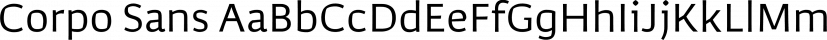 Corpo Sans font family by BORUTTA