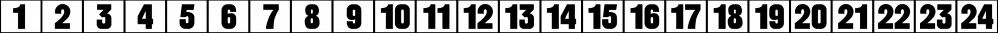 Calendar Blocks JNL font family by Jeff Levine Fonts