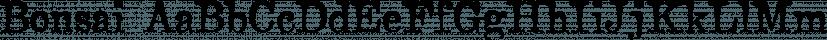 Bonsai font family by Three Islands Press