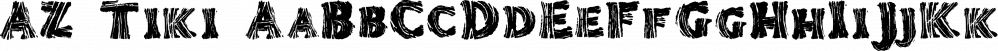 AZ Tiki font family by Artist of Design