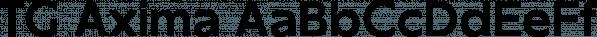 TG Axima font family by Tegami Type