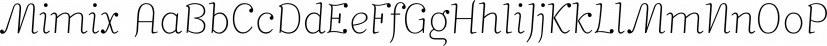 Mimix font family by FSdesign