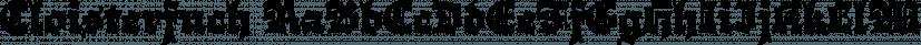 Cloisterfuch font family by Herzberg Design
